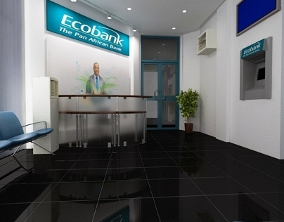 Interior visualization for Ecobank, Accra, Ghana