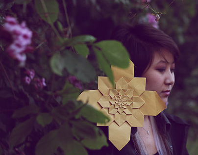 Origami e natureza - Ensaio Fotográfico