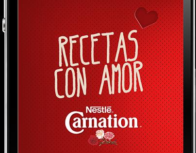Carnation® Recetas con Amor Smartphone App Proposal