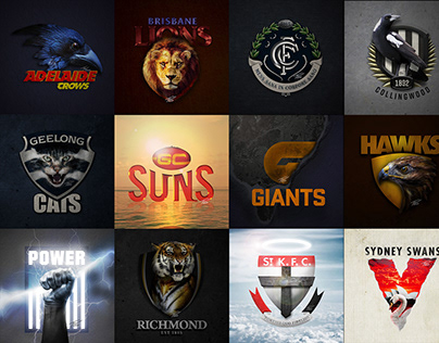 AFL - Realistic Logos
