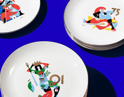 Illustrations for Voiello, La Scaramantica 2020