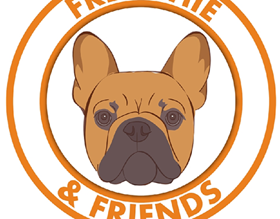Frenchie & Friends logo and business card