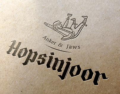 Logo and style design for Belgian Pub HOPSINJOOR