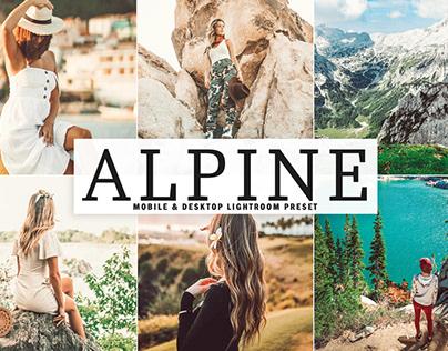 Free Alpine Mobile & Desktop Lightroom Preset