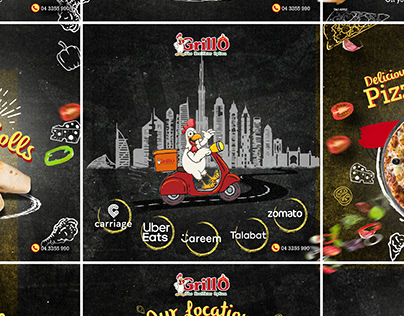 GrillO UAE   Social media posts
