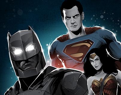 Batman V Superman Cover
