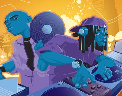 Commercial Illustration - DJ ad Illustrations