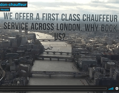 Promo video created for aLondon Chaffeur Company UK