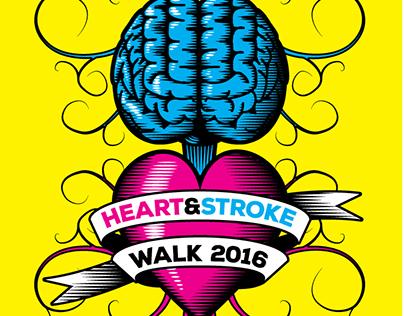 Heart & Stroke Walk 2016 Logos