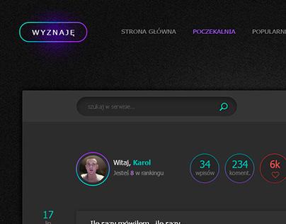 wyznaje - by enyks.pl - webdesign