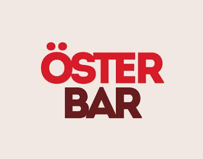 Öster bar. Название, логотип, фирменный стиль и сайт