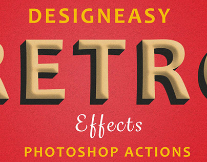 Retro Style Effects Actions for Photoshop