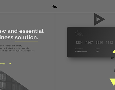 Financial UI Web Concept
