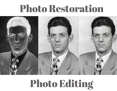Photo Restoration/ Photo Editing