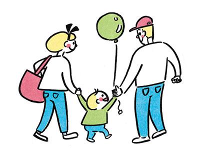 Family illustrations