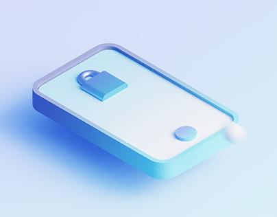 3D Lock Screen UI