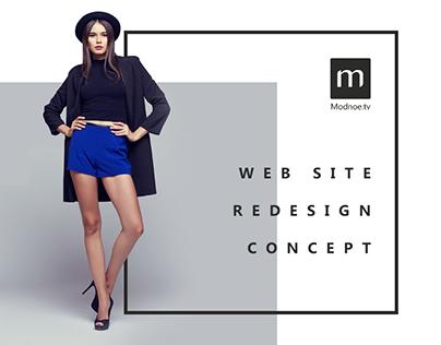 Modnoe.TV  - website redesign concept