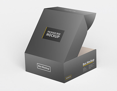 Square Box Packaging Mockup 3A