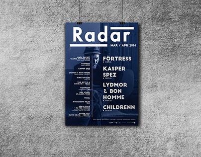 Radar: Monthly Poster
