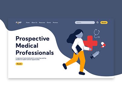 PuMP   Non-Profit Organization   Website UI & UX Design