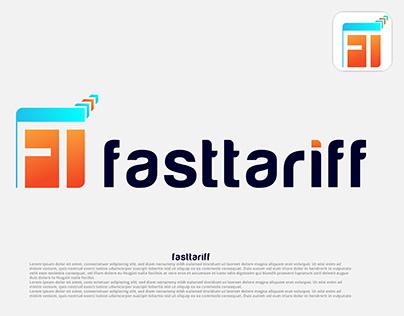 FT letter brand logo design