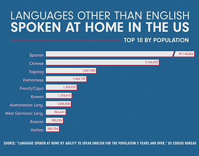 Languages Spoken in US Infographic