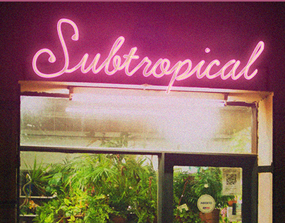 SUBTROPICAL - rock album artwork