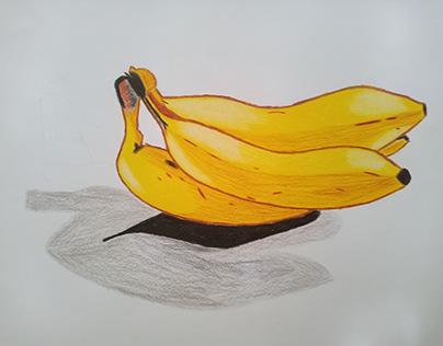 Lukisan Pisang 3d
