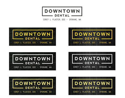 Downtown Dental Logo Re-design and Marketing Materials