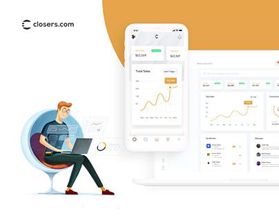 Closers.com - WebApp Responsive Design