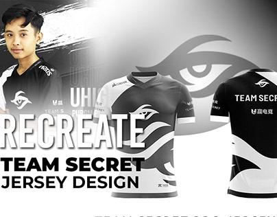 Team Secret Jersey design (recreate)