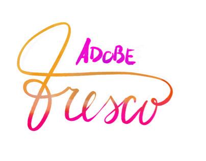 Adobe fresco first letterina test