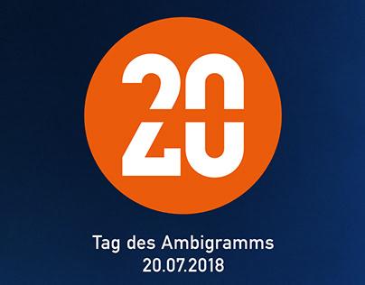 3. Internationaler Tag des Ambigramms am 20.07.2018