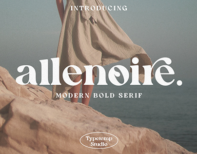Allenoire Modern Bold Display Free