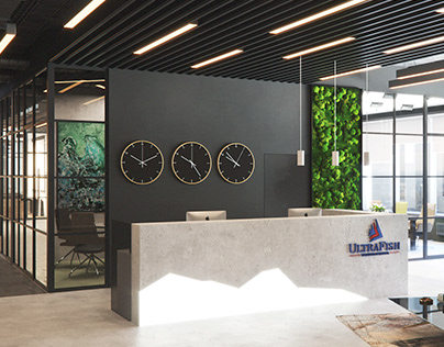 Office in Moscow 3D visualization