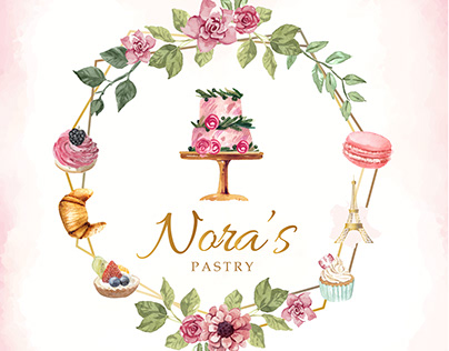 Nora's Pastry Web, Logo and Stationary Design