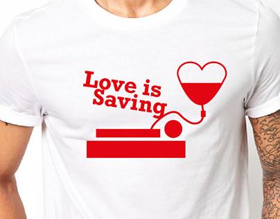 SANBS Love Campaign's T-shirts Design