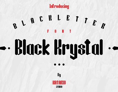 Black Krystal Font