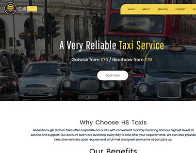 Taxi Service Web Design