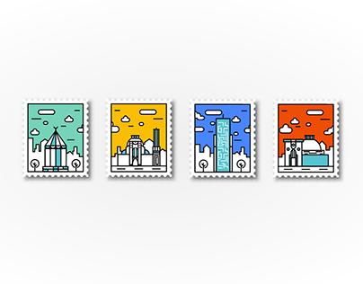 Konya Postage Stamps