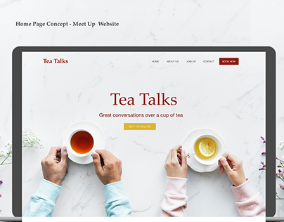 Home Page Concept for a Meet Up Site
