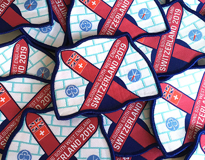 Woven and embroidered badge designs