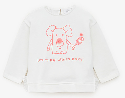 Zara Australia Baby Girl | Koala Printed Sweatshirt