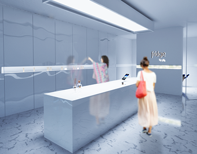 FRIDGE by yDe_project of cosmetics shop & lab iterior