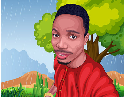 Nigerian vector Portrait
