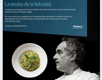 La comida de la Familia. Juego On Line. Ferran Adriá.