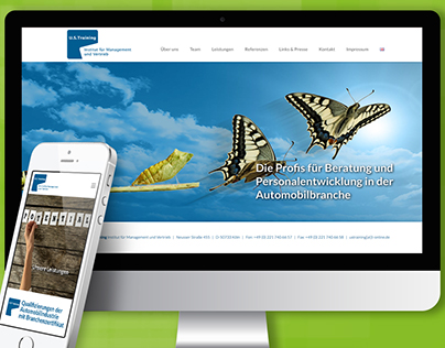 Website design including animations: www.ustraining.de