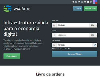 Crypto Currency Exchange Platform Walltime Redesigned
