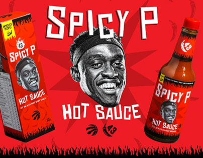 Pascal Siakam 'Spicy P' Hot Sauce - Packaging Design 🌶