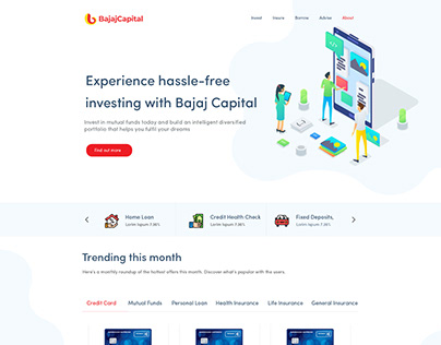 Landing Page Design - Bajaj Capital